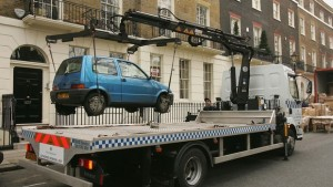 Authorised Removal Unit Removes Illegally Parked Car