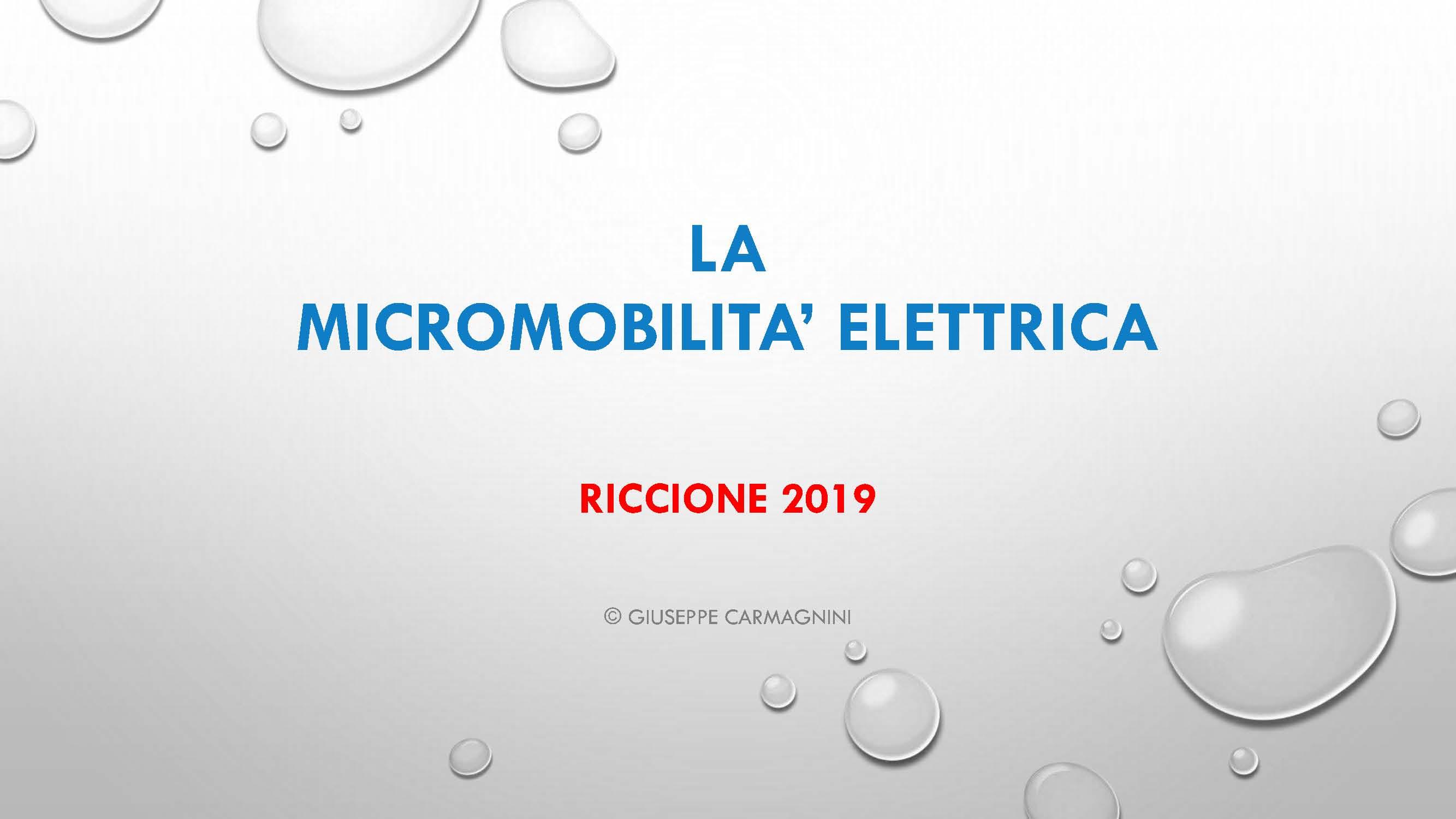 La micromobilità elettrica